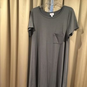 LuLaRoe Carly Large Gray